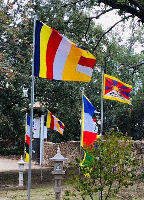 banderas de tierra de budas